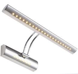 Verspiegelte nachttischlampen online-LED Silber Nachttischlampe Lesewandlampen 5W 7W 27LEDs 36LEDs Sanitär-Falle Hintergrund LED Spiegelleuchte mit LED-Wandleuchte