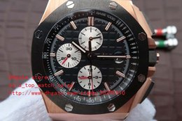 Wholesale Auto Battery Suppliers - Factory Supplier Black dial 18k gold watchcase latest version New Luxury AAA Brand Japanese quartz movement Chronograph Mens Watches