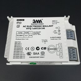 Wholesale T5 Fluorescent Electronic Ballast - Free Shipping 3AAA AC Electronic ballast HYQ 1X60W  220-240 for T5-C 60W X 1 Looped Fluorescent Lamp