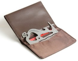 Wholesale Multi Machines - Wallet card tool self defense Pocket Monkey Original Really Thin Wallet Multi Tool Gadget 18 in 1 Multi-purpose Credit Card Size Pocket Tool