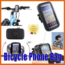 Wholesale Motorcycle Battery Wholesale - Bike Bicycle Motorcycle Waterproof for iPhone 6s Phone Case bag with Handlebar Mount Holder for Samsung S7 HTC HUAWEI LG