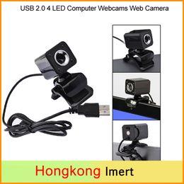 Wholesale China Wholesale Mic - New USB 2.0 Full HD 480P 12M Pixel 4 LED Computer Webcams Web Cam Camera MIC for PC Black