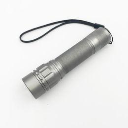 Wholesale Gold Torch Led Flashlight - 2000 Lumen Zoomable XM-L Q5 LED Flashlight Torch Zoom Lamp Light Black Gold Gray Lanterna LED 3 Modes use 18650 Penlight