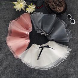 2019 organza di cotone Ragazze Bubble Gonne Organza Abiti da ballo Tutu Dress Ballet Skirt Kids Gold Silver Bow Pettiskirt Vestiti 3-8T abiti sconti organza di cotone