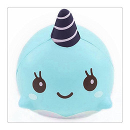 Wholesale Squishies Free Shipping - Jumbo Squishies Millie Whale Squishy Soft Pu Slow Rising Squishies Original Package Phone Strap Charms Squeeze Toys Free Shipping