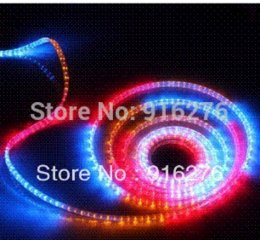 Wholesale Plastic Clip Strips - Wholesale - High Quality 220V RGB SMD 5050 led strip Tape lights 60LEDs m + plastic clips For home Decoration New