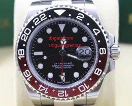 Wholesale Ceramic Clocks - New Arrival Luxury Men's watches GMT II 116719 Ceramic Bezel Black Dial Wristwatch 18K White Gold Sapphire Mens Wristwatches watch clock