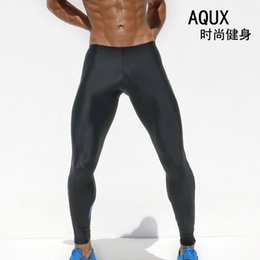 Wholesale Sexy Men Tight Clothing - Wholesale-New Superbody Men Sexy Sports Stretch Running Skinny Tight Pants Male Clothing Beach Trousers Leggings Gym Long Pants Sweatpants