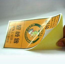 Canada personnalisé brillant autocollant papier adhésif autocollant impression couleur emballage étanche autocollant étiquette collée Offre