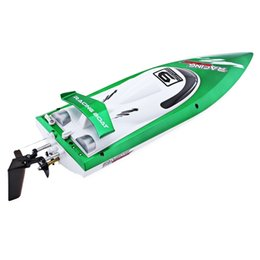 Wholesale h boat - New Arrival Fei Lun FT009 2.4G High Speed Remote Control Racing Boat 30km h Anti-crash Cover Yacht Christmas Birthday Gift