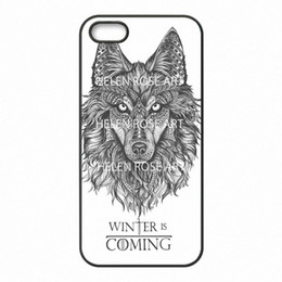 Wholesale Iphone 5c Game - Game Of Throne Winter is Coming Phone Covers Shells Hard Plastic Cases for iPhone 4 4S 5 5S SE 5C 6 6S 7 Plus ipod touch 4 5 6