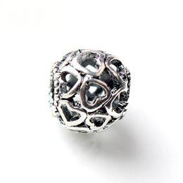 Wholesale Skull Link Bracelet - Gemstone Beads Silver Spacer Beads Pandora Style Charms Skull Beads 925 Sterling Silver Openwork Heart Bead Jewelry Bracelets