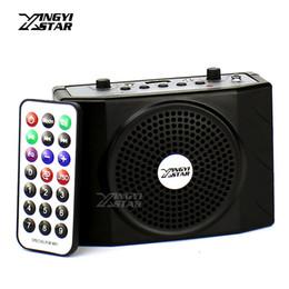 Wholesale Floor Standing Loudspeakers - Loudspeaker With Headset Microphone Voice Amplifier Audio Booster Megaphone Portable Speaker USB Music MP3 Player Teaching Tour Guide