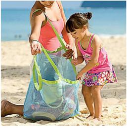 2019 ropa de arena Aplicado Aguantar los niños Arena de distancia Playa Bolsa de malla Niños Playa Juguetes Ropa Bolsa de toallas Bebé Juguete Colección Panal ropa de arena baratos