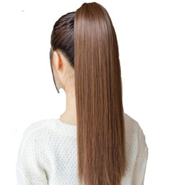 Wholesale Tie Ponytail Hairpiece - Tie on Ponytail Hair Extension Tail Hairpiece Long Straight Synthetic Women's Hair