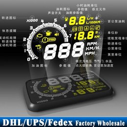 Wholesale Engine Hud - DHL  10pcs lot Car Head Up Display System OBD2 Hud Speed Engine Details Showing Vehicle-Mounted OBD II Hud
