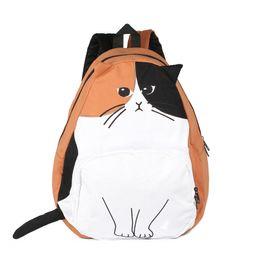 Wholesale Small Ears Cartoons - sac a dos Ears Cute Cat Japan Women Backpacks for Teenage Girl School Bag Mochila Gato Animal Print Fashion Canvas Bagpack