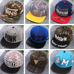 Wholesale Types Hats Hip Hop - free shipping 9 types Male and female Outdoor sun hat baseball hat street hip hop snapbacks summer hip hop hat