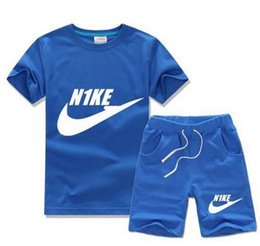 Wholesale Clothes Children Years - Free shipping New 2016 summer clothing sets kids pants + Top boys girls brand kids clothes children tracksuits 2-10 years old