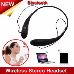 2019 lg toni auricolare stereo senza fili Auricolare sportivo Bluetooth Tone + HBS-800 all'ingrosso Auricolare stereo Bluetooth HBS 800 Cuffie stereo stereo per iPhone Samsung lg toni auricolare stereo senza fili economici