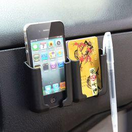 Comercio al por mayor Universal Car Phone Holder Stand Box Bolsas de teléfono móvil Multifuncional teléfono celular negro Organizador de bolsillo Asiento de coche Bolsa de almacenamiento desde fabricantes
