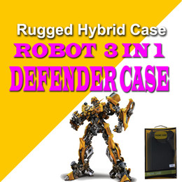 Wholesale Iphone Hybrid Robot - For Samsung S8 Plus Note 8 iPhone X 8 Robot 3 in 1 Defender Rugged Hybrid Case with Belt Clip Box Package