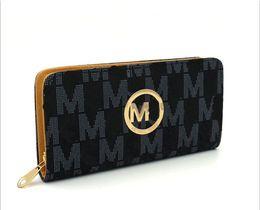 Wholesale Cheap European Fashions - Famous Fashion Single Zipper Cheap Luxury Women PU Leather Wallet Ladies Long Purse Card Holder MK-166