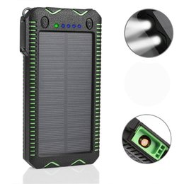 Wholesale Smart Phone External Battery Charger - 500000mAh WATERPROOF SOLAR Power Bank Charger Battery External SAMSUNG Iphone Smart Phone