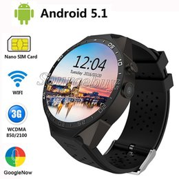 Wholesale Wifi Cameras For Outdoors - Kingwear KW88 Android 5.1 OS Smart watch electronics android 1.39 inch mtk6580 SmartWatch phone support 3G wifi nano SIM WCDMA Wristwatch