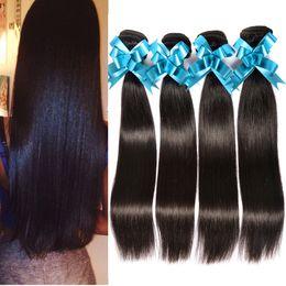 Wholesale Cheapest Straight Weave - Cheapest Human 8A Brazilian Straight Virgin Hair 4Bundles 100g pcs Unprocessed Virgin Brazilian Hair Cheap Human Hair Weave Bella Dream Hair