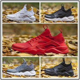 Wholesale Fabric Designs - Run Design Air Huarache 4 IV Running Shoes For Men&Women, Lightweight Huaraches Sneakers Athletic Sport Outdoor Harache red Shoes