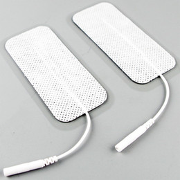 Wholesale Tens Machine Electrode Replacements - Rectangle E-Stim Electrode Pad Unit Tens Acupuncture Digital Therapy Machine Massager Erotic Replacement Pads
