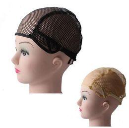30 pezzi / lotto Berretto regolabile per parrucca regolabile in nylon di media taglia per realizzare reti regolabili per tessere parrucche da