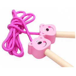 Wholesale Wholesale Dog Items - XS Wooden Cartoon Multicolor Jumping Rope Toys for Children Sports Skip Exercise Toys Wholesale