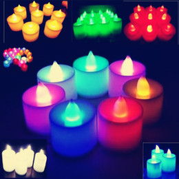 Wholesale Candle Married - Romantic glow LED electronic candle 7 colour smokeless candle lights do marry him birthday celebration of wedding