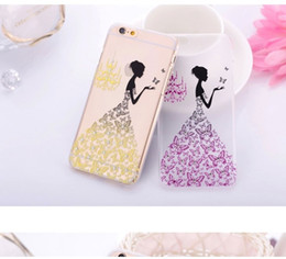 Wholesale Iphone Diamond Gel Case - Fashion phone cases Colorful painting Diamonds Shadows Thin Soft TPU Gel Silicon Transparent Diamond Case Cover For Apple iPhone 6 6S DHL