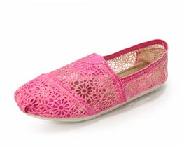 Wholesale Happy Toe - Foreign hot fresh flower lady canvas shoes low gradient lace openwork Thomas happy Marie fashion leisure