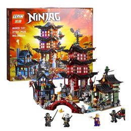 Wholesale Plastic Temples - lepin 2150pcs 06022 City of Stiix Building Blocks Temple of Airjitzu anime figures Kids Bricks Toys brinquedos 70751