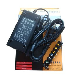 Wholesale 12v Dc Laptop Adapter - 96W Universal Laptop Power Supply 110-220v AC To DC 12V 16V 20V 24V Adapter For Laptop Notebook HP DELL IBM Lenovo ThinkPad Free Shipping