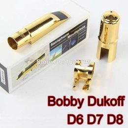 Wholesale Mouthpieces For Saxophone - Wholesale- Bobby Dukoff Professional Metal Tenor Saxophone Mouthpiece D6 D7 D8 Tenor Sax Mouthpiece Musical Instruments Mouthpiece