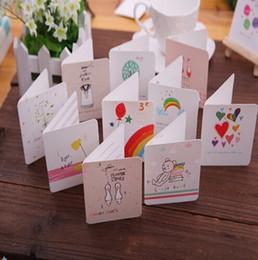 Wholesale Diy Greeting Cards - Wholesale korea diy greeting cards colorful cartoon creative greeting cards event party supplies 168 pcs 1 set
