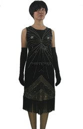 Wholesale Sequins Outfit - Beaded Sequin Fringe Roaring 1920's 20s Flapper Great Gatsby Themed Design Party Halloween Even Dresses Clothing Costumes Outfit