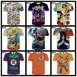 Wholesale One Piece Dragon Ball - 2016 New Fashion 3d t Shirts For Men Naruto Dragon Ball One Piece Pocket Monsters Mens t Shirts Animals Printing Streetwear Shirt Tops
