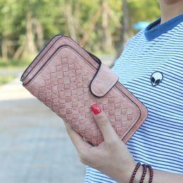Wholesale Ladies Money Purses - Luxury Leather Long Women Purses Sale Phone Hasp Wallets Zipper Pocket Credit Card Holders Clutch Bags Ladies Money Bags