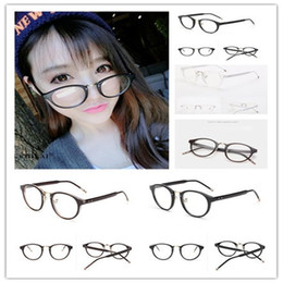 Wholesale Wholesale Plain Fans - Fan Bingbing same paragraph retro black-rimmed glasses frame tide full female star models plain glass spectacles literary temperament B0075