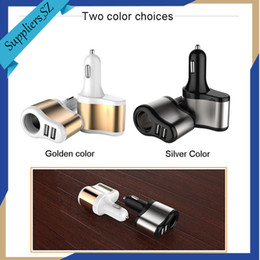 Wholesale Car Cigarette Power Splitter - Smart Car Charger Dual USB Ports 3.1A + 1 Socket Cigarette Lighter Splitter Car Power Adapter 80W for iPhone iPad Android