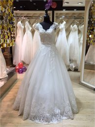 Wholesale Custom Dress Making China - Vestido De Noiva Cap Sleeves 2016 Long Floor Length Custom Made Formal Bridal Gowns Designs NW034 Wedding Dress Imported From China