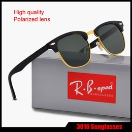 Wholesale free driver - High Quality Brand Sunglasses for men women Classic Fashion Polarized sun glasses driver glasses Retro Eyewear with free brown cases and box