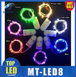 Wholesale Wire Fruit - hot sale 500pcs 2M 20LEDS micro led fairy stringS light Copper Wire led string Xmax lightS Christmas lighting