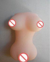 Wholesale Solid Silicone Mini Sex Dolls - Silicone Big Breasts Sex Masturbators Sex Dolls Realistic Solid Dolls With Vagina Mini Sex Toys For Men